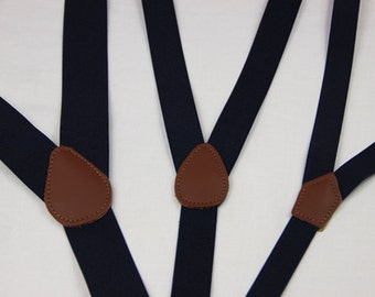 Navy blue suspenders, M to XXL deep blue mens suspenders,wedding suspenders,custom groomsman suspenders,father suspenders, groom Suspenders,