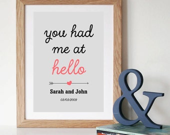 You Had Me At Hello Print