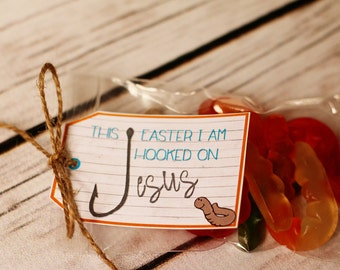 Easter Printable - This Easter I am HOOKED on JESUS!