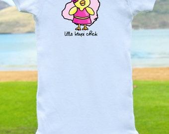 Little Kauai Chick Onesie