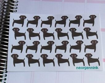 Chocolate Labrador Stickers