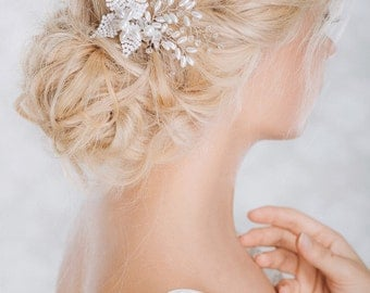 Bridal Headpiece, Wedding Hairpiece, Pearl and Rhinestone Hairpiece,  Bridal Hair Comb, Wedding Hair Accessories