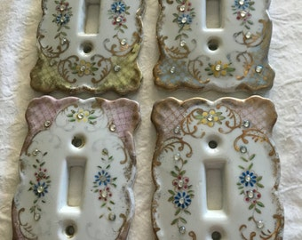 Lefton Porcelain light switch  covers