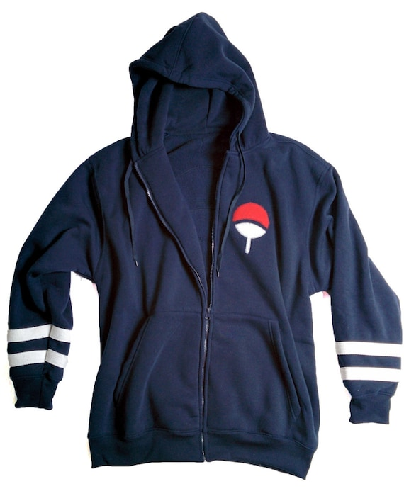 Uchiha Sweater: Uchiha Clan Inspired Embroidered Hoodie