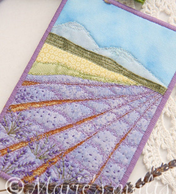 Fabric Postcard Quilted Postcard Landscape Greeting Card