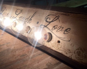 Live Laugh and Love 4 bulb Vanity / wall lighting