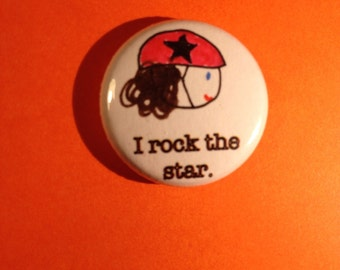 I Rock the Star Pin Roller Derby Jammer