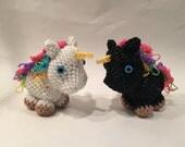 Unicorn Rubber Band Figure, Rainbow Loom Loomigurumi, Rainbow Loom Animal