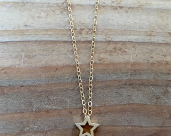 Gold Star Layering Necklace