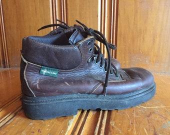 Vintage Leather 90s Boots Vintage Brown Ankle Boots Vintage Westland Boots
