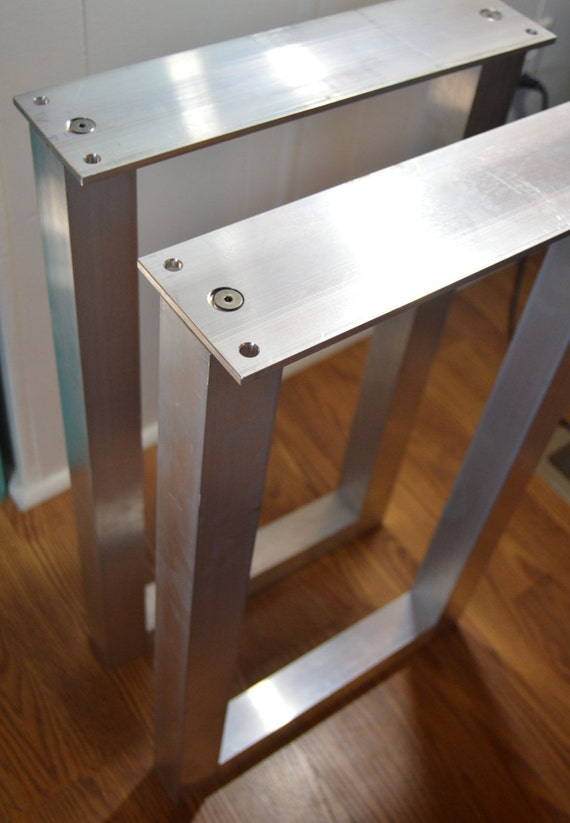 The best metal table legs 2 square set of 2 frame for Square iron table legs
