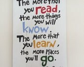 Wooden Sign - Hand Painted Dr Suess Quote Nursery Painting