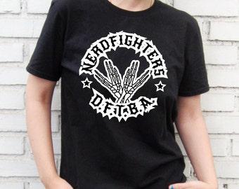 Nerdfighter - DFTBA -  Black T-Shirt – Screen Printed 100% Cotton.