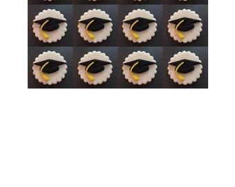 Graduation Fondant Cupcake Toppers (12)