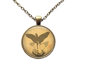 Shadow necklace Puppet pendant Vitnage jewelry