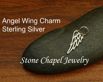 Angel Wing Sterling Silver Charm