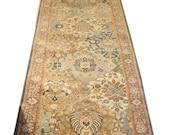 Hall Runner, 2.6x12 - Handmade rug, Wool Rug, Area Rug, Home Decor, Area Rug, Blue
