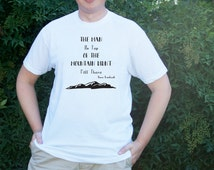 The Man On Top Of The Mountain Didn't Fall There Tshirt / Mountain Shirt / Christmas Gift for Him / Husband Gift / T-shirt / Graphic Tee