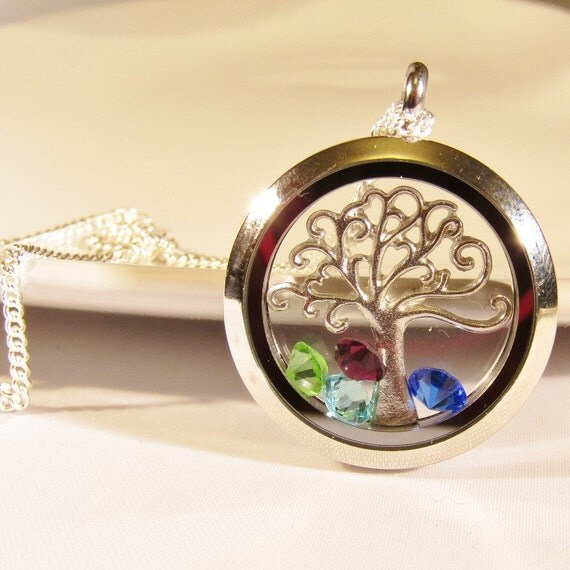 Birthstone Jewelry Family Tree Necklace Mothers Day Gift
