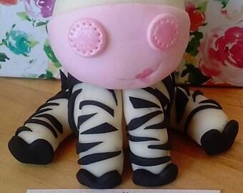 Large Fondant Zebra cake topper, edible