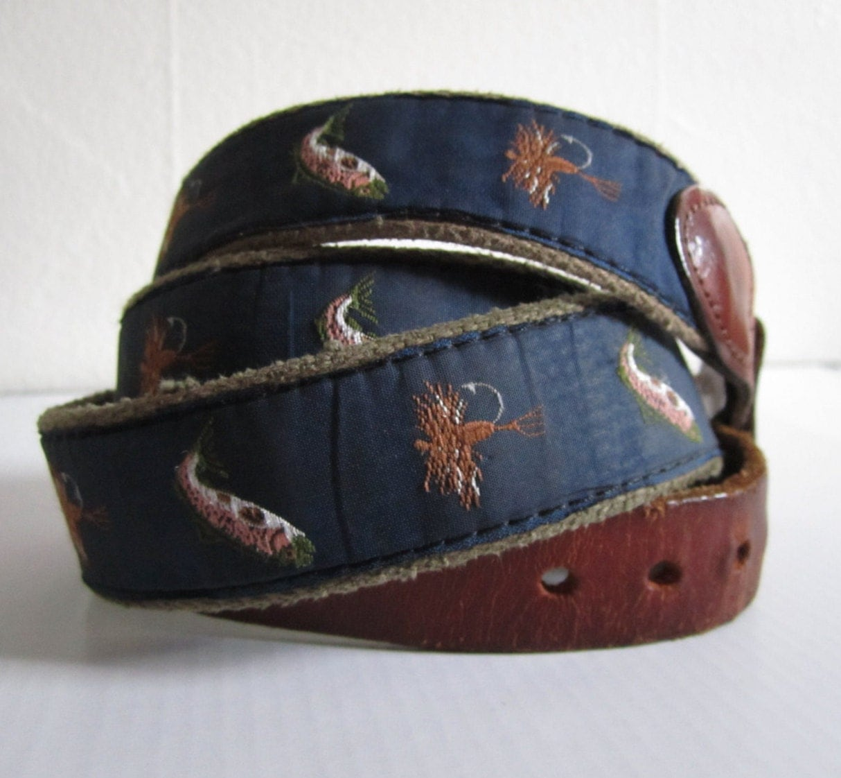 leather tabbed club belt fly fishing cub belt leather and