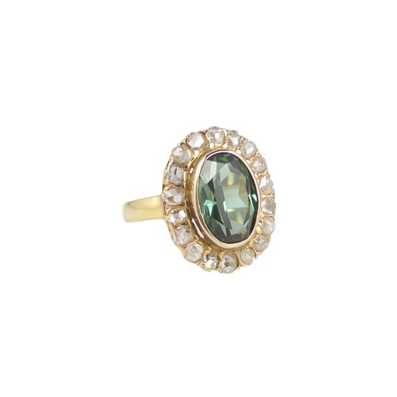 green tourmaline ring antique green