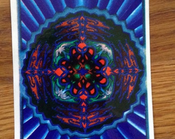 Vintage Psychedelic Fractal Geometry Sticker