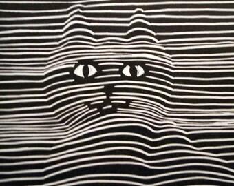 Cat, Dog Original Linocut Relief Prints