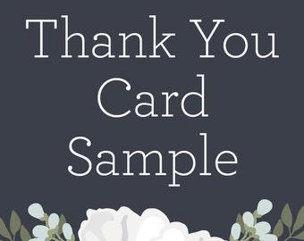 Thank You Card Sample