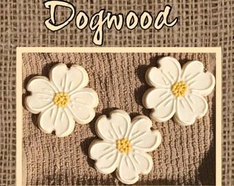 Dogwood Flower Sugar Cookies
