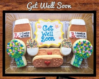 Get Well Soon Sugar Cookie Gift Box