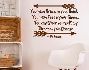 Dr Seuss Decal Etsy - Dr seuss nursery wall decals