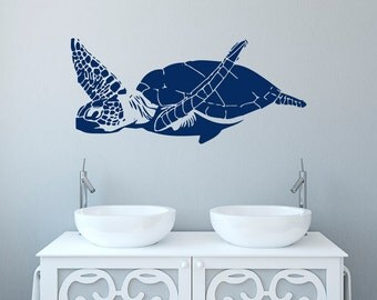 Sea Turtle Wall Art turtle wall decal | etsy