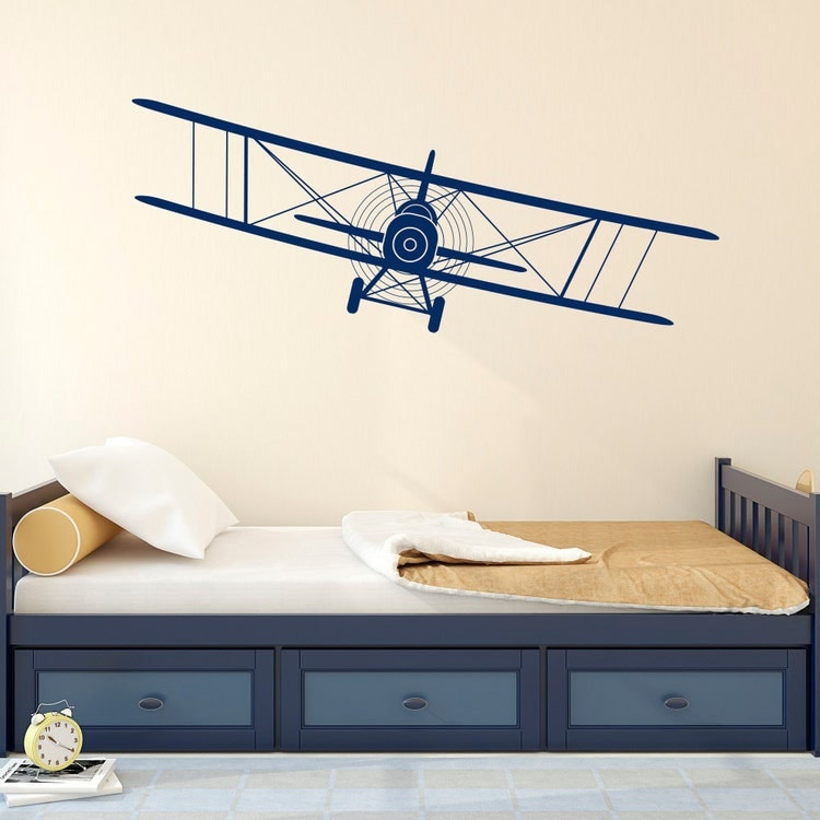 Biplane Decal Airplane Wall Decals Plane Stickers By