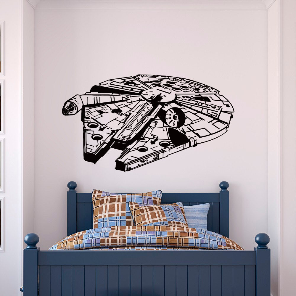 Star Wars Wall Decal Vinyl Stickers Millennium Falcon Fighter