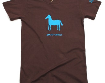 Horsey worsey womens' fitted shirt