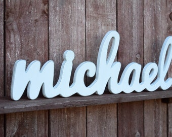 Penelope name sign wooden names letters for nursery nursery michael baby name wooden sign nursery decor baby name signs for baby gifts negle Images