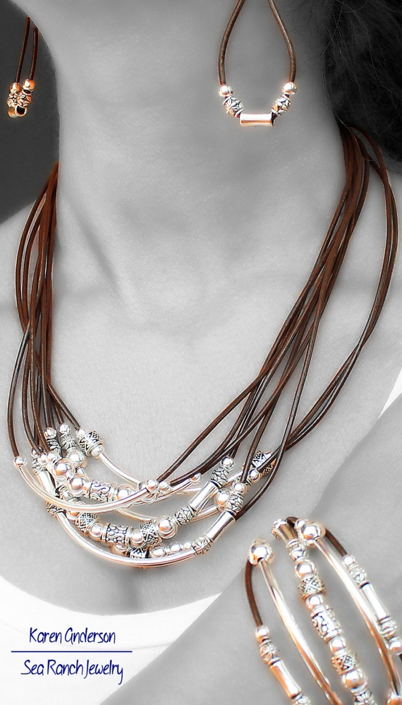 the bead me up jewelry set tribal by searanchjewelry