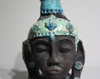 Raku ceramic Buddha
