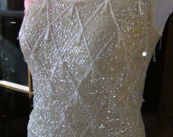 40% OFF Vintage Sequin and Bead Wool Top