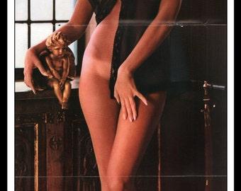 "Mature Playboy November 1965 : Playmate Centerfold Pat Russo Gatefold 3 Page Spread Photo Wall Art Decor 11"" x 23"""