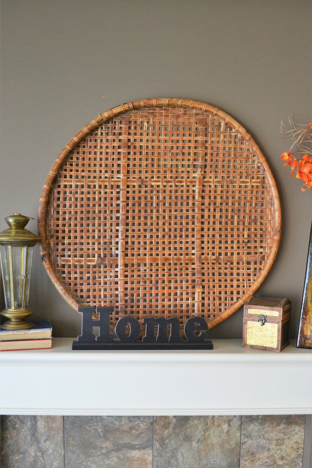Extra Large Vintage Woven Round Tobacco Harvest Sieve Rare