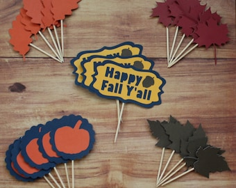 Fall Cupcake Toppers (set of 23)
