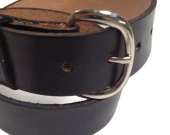 "Mens Leather Belt 1.5"" wide 