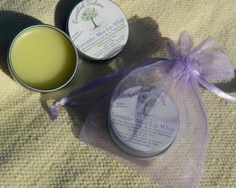Lavender Mint Lip Gloss - Lip Whip - whipped lip care - all natural lip gloss - Essential Oil Lip Care - Lip glaze - Lip Shine- net wt .3 oz