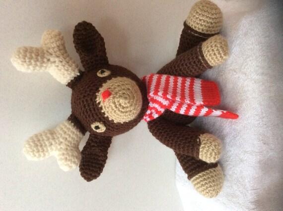 Amigurumi Stuffed Animals : Reindeer Amigurumi Stuffed Animal Plushie by ...