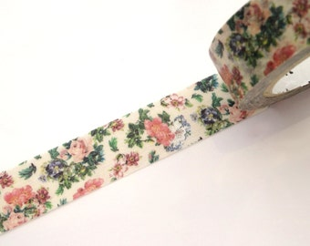 Botanical washi tape, Little flower wedding, Japanese stationery, DIY wedding, Gift wrapping, Stationery gift, Masking tape, Elegant flower