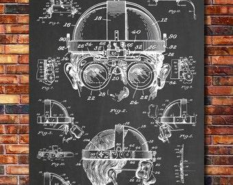Welder's Goggles Patent Print Art 1940