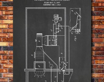 First Air Conditioner Patent Print Art 1914