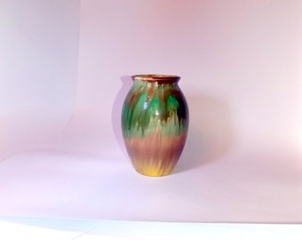 Vintage vase, Vase, Ceramic vase, Colorful vase, flower Vase, vase, USSR, art pottery, vase vintage, vintage vase pottery, vase ombre, ombre